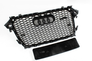 Audi_A4_B8_RS4_grill_black_grille_with_chrome_frame