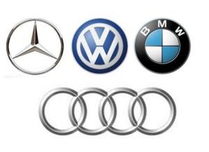 logoMercedes-Audi-BMW-VW-emblems